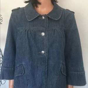 Style & Co. Jeans Jacket L Dressy Detail Fashion